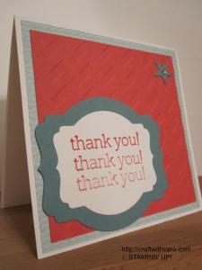 Strawberry Slush & Lost Lagoon Thank You card