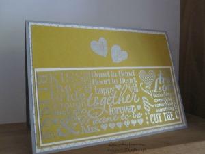 Hello Honey, Smoky Slate and embossed wedding card