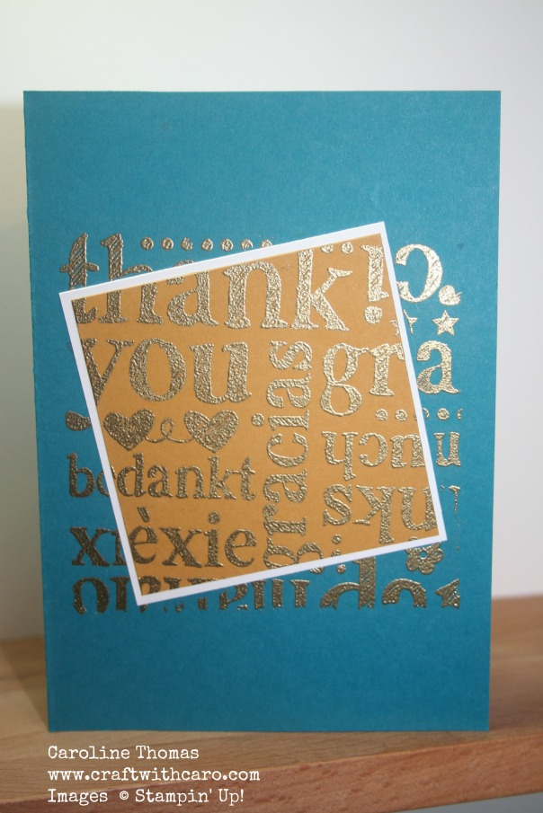 World of Thanks, metallic heat embossing, CC&S #164