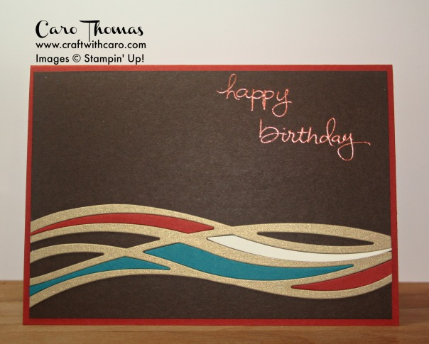 Swirly Scribbles, Male birthday, Metallic heat embossing