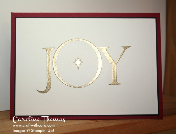 Joyful Nativity, Heat embossing, Clean and simple, CAS