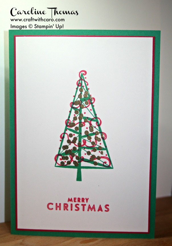 Twinkle Trees, FLuury of Wishes, Christmas, Clean & Simple, Embossing