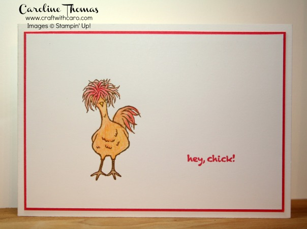 Hey, Chick!, watercolouring, pencils, SAB