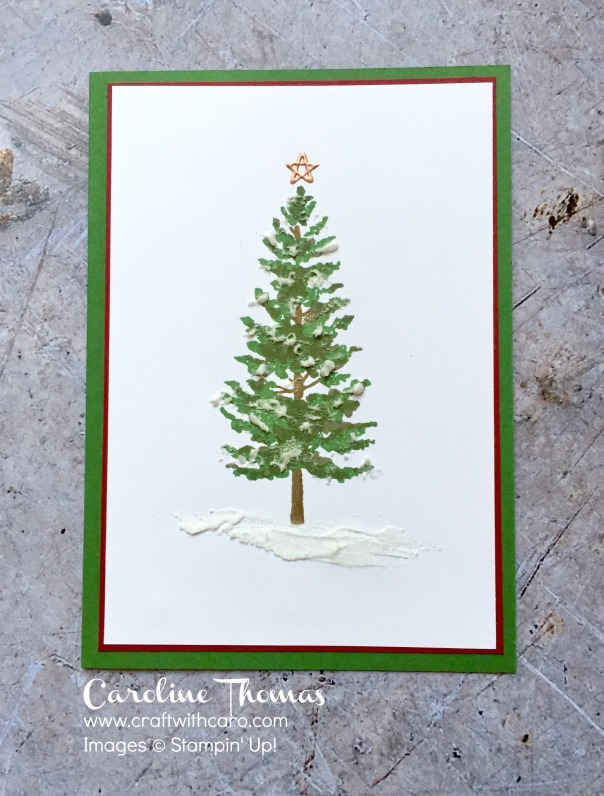 Season Like Christmas, Stampin' Creative, embossing paste