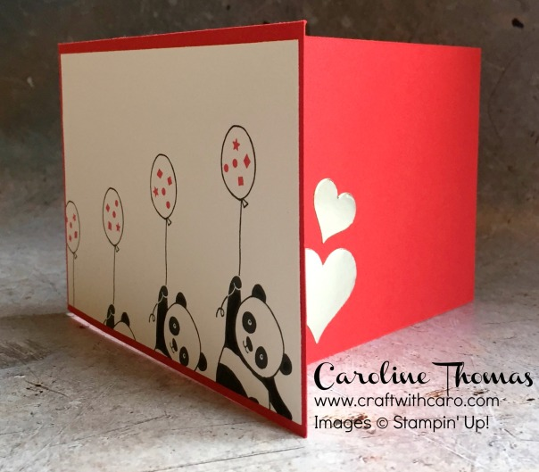 Party Pandas Valentine tri-fold